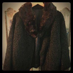 Vintage women's black wrap